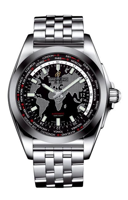 银河世界时区SleekT腕表搭载的是百年灵全新自制瑞士官方天文台认证(COSC)B35机芯